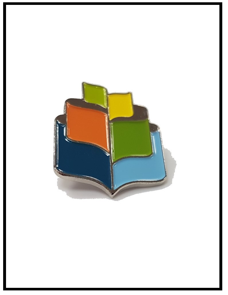 Pin in the design of the SDG Library logo